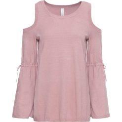 Swetry klasyczne damskie: Sweter z wycięciami bonprix różowobrązowy