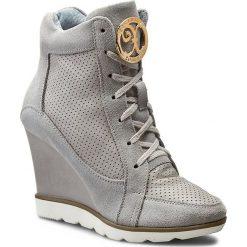 Sneakersy ROBERTO - 419/D Sz. Lico/Sz. Welur. Szare botki damskie skórzane Roberto. W wyprzedaży za 229,00 zł.