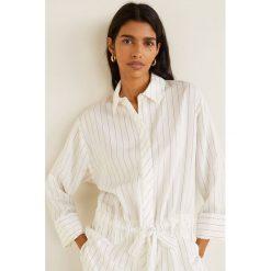 Mango - Koszula Urban. Szare koszule wiązane damskie Mango, l, w paski, z poliamidu, klasyczne, z klasycznym kołnierzykiem, z długim rękawem. Za 199,90 zł.
