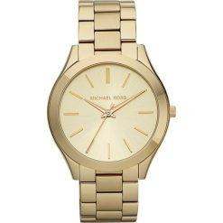 Zegarek MICHAEL KORS - Slim Runway MK3179 Gold/Gold. Żółte zegarki damskie Michael Kors. Za 950,00 zł.