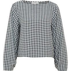 Tibi GINGHAM BOATNECK TOP Bluzka black multi. Białe bluzki damskie Tibi, z acetatu. W wyprzedaży za 675,60 zł.