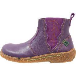 Buty zimowe damskie: El Naturalista SOFT  Botki purple/nido