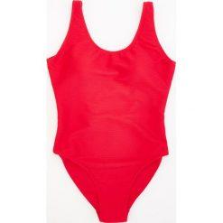 Stroje jednoczęściowe: Jednoczęściowy strój kąpielowy – Czerwony