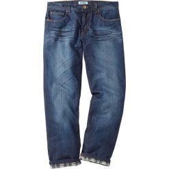 """Dżinsy ocieplane Regular Fit Straight bonprix ciemnoniebieski """"used"""". Czarne jeansy męskie regular marki bonprix. Za 159,99 zł."""