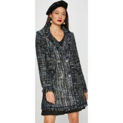 Silvian Heach - Płaszcz. Czarne płaszcze damskie marki Silvian Heach, m, z bawełny, klasyczne. W wyprzedaży za 599,90 zł.