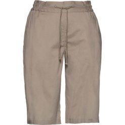 Lekkie szorty z elastycznym paskiem bonprix brunatny. Brązowe bermudy damskie bonprix. Za 59,99 zł.