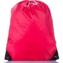 Czerwony Młodzieżowy szkolny plecak worek. Szara plecaki męskie marki KIPSTA, z materiału, młodzieżowe. Za 14,90 zł.