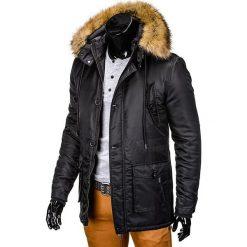976789a9bac70 ... KURTKA MĘSKA ZIMOWA PARKA C303 - CZARNA. Czarne kurtki męskie Ombre  Clothing, na zimę