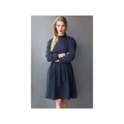 Sukienka CHARMING DRESS DEEP NAVY. Niebieskie sukienki balowe TRUE COLOR by Ann, na co dzień, l, z klasycznym kołnierzykiem, z długim rękawem, mini, trapezowe. Za 490,00 zł.