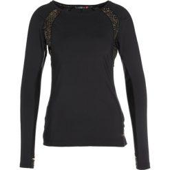 Elle Sport Koszulka sportowa black/gold. Czarne t-shirty damskie Elle Sport, s, z elastanu, z długim rękawem. W wyprzedaży za 239,20 zł.