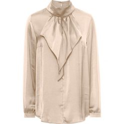 Bluzki asymetryczne: Bluzka satynowa z falbanami bonprix złoty metaliczny