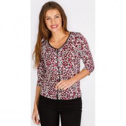 """Koszulka """"Cachette"""" w kolorze czerwonym ze wzorem. Czerwone t-shirty damskie Scottage. W wyprzedaży za 68,95 zł."""