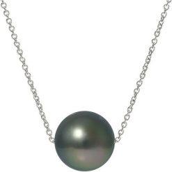Naszyjniki damskie: Złoty naszyjnik z perłą tahiti – dł. 42 cm