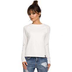 Bluzki damskie: Ecru Klasyczna Bluzka z Długim Rękawem