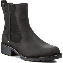 Sztyblety CLARKS - Orinoco Club 203409184 Black Leather. Czarne buty zimowe damskie Clarks, z gumy, za kostkę, na wysokim obcasie. W wyprzedaży za 229,00 zł.