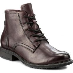 Botki TAMARIS - 1-25245-29 Merlot Leather 568. Szare buty zimowe damskie marki Tamaris, z materiału, na sznurówki. W wyprzedaży za 209,00 zł.
