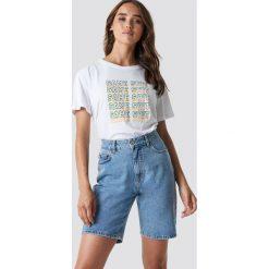 T-shirty damskie: NA-KD T-shirt oversize Same Shit - White