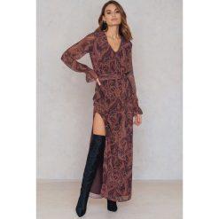 Sukienki hiszpanki: FWSS Sukienka Trine – Brown,Red,Purple,Multicolor