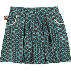 """Spódnica """"Proud As We Are"""" w kolorze brązowo-turkusowym. Brązowe spódniczki dziewczęce marki 4FunkyFlavours Kids, mini. W wyprzedaży za 82,95 zł."""