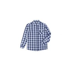 Koszula męska z kieszonką, rozpinana, Z KOŁNIERZEM casual. Szare koszule męskie marki TXM, z dresówki. Za 29,99 zł.