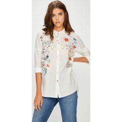 Desigual - Koszula. Szare koszule damskie marki Desigual, l, z bawełny, klasyczne, z klasycznym kołnierzykiem, z długim rękawem. W wyprzedaży za 239,90 zł.