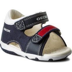 Sandały GEOX - B S.Elba B. A B82L8A 01054 C0735 M Navy/Red. Niebieskie sandały męskie skórzane marki Geox. W wyprzedaży za 149,00 zł.