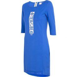 Sukienki dzianinowe: Sukienka damska SUDD210 - kobalt