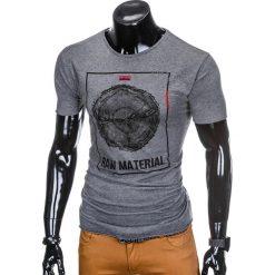 T-SHIRT MĘSKI Z NADRUKIEM S928 - GRAFITOWY. Szare t-shirty męskie z nadrukiem Ombre Clothing, m. Za 19,99 zł.