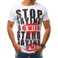 T-shirty męskie z nadrukiem: T-shirt męski z nadrukiem biały (rx2507)
