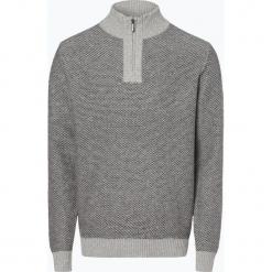 Nils Sundström - Sweter męski, szary. Szare swetry klasyczne męskie marki Nils Sundström, m, z bawełny, ze stojącym kołnierzykiem. Za 179,95 zł.