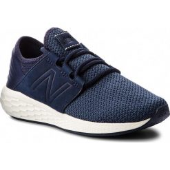 Buty NEW BALANCE - WCRUZNN2  Granatowy. Niebieskie buty do biegania damskie New Balance, z materiału. W wyprzedaży za 299,00 zł.