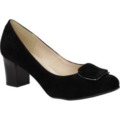 Czółenka na słupku Casu 1831. Czarne buty ślubne damskie Casu, na słupku. Za 109,99 zł.