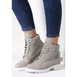 Szare Traperki Be Young. Brązowe buty zimowe damskie marki vices, z materiału, ze szpiczastym noskiem, na wysokim obcasie, na obcasie. Za 119,99 zł.