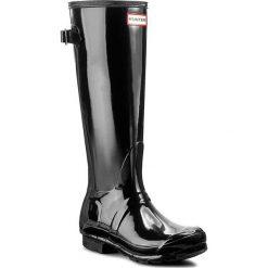 Kalosze HUNTER - Org Back Adjust Glos WFT1001RGL Black. Czarne buty zimowe damskie Hunter, z kauczuku. Za 499,99 zł.