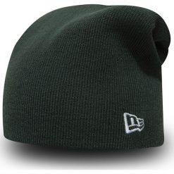 New Era - Czapka. Czarne czapki zimowe męskie marki New Era, na zimę, z dzianiny. Za 99,90 zł.