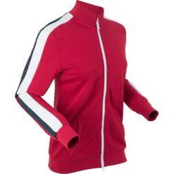 Bluzy damskie: Bluza rozpinana, długi rękaw bonprix ciemnoczerwony