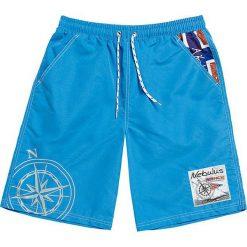 """Szorty kąpielowe """"Tornio"""" w kolorze niebieskim. Niebieskie szorty męskie marki Nebulus, z nadrukiem. W wyprzedaży za 87,95 zł."""