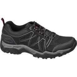 Trekkingowe buty męskie Highland Creek czarne. Czarne buty trekkingowe męskie Highland Creek, z materiału, na sznurówki. Za 119,90 zł.