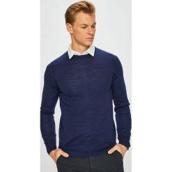 Tommy Hilfiger Tailored - Sweter. Niebieskie swetry klasyczne męskie Tommy Hilfiger Tailored, l, z dzianiny, z okrągłym kołnierzem. Za 399,90 zł.