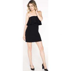 Wyjściowa Ołówkowa Sukienka Hiszpanka. Czarne sukienki balowe Molly.pl, na imprezę, l, z dekoltem typu hiszpanka, kopertowe. Za 92,90 zł.