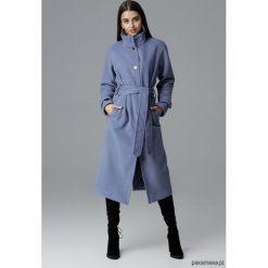 Płaszcz M624 Niebieski. Niebieskie płaszcze damskie marki Pakamera, z bawełny. Za 329,00 zł.