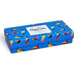 Happy Socks - Skarpetki Forest Gift Box (4-pak). Niebieskie skarpetki damskie Happy Socks, z bawełny. Za 119,90 zł.