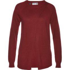 Swetry klasyczne damskie: Sweter bonprix czerwony kasztanowy