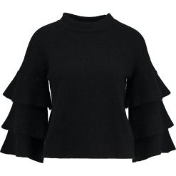 Swetry klasyczne damskie: Endless Rose RUFFLED TIERED JUMPER Sweter black