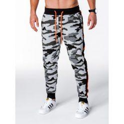 Spodnie męskie: SPODNIE MĘSKIE DRESOWE P715 – SZARE