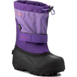 Śniegowce COLUMBIA - Childrens Powderbug Plus II BC1326  Emperor/Melonade 512. Czarne buty zimowe chłopięce marki Columbia, z materiału. W wyprzedaży za 149,00 zł.