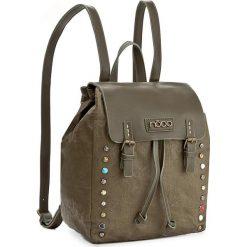 Plecak NOBO - NBAG-D3350-C008  Zielony. Zielone plecaki damskie Nobo, z materiału. W wyprzedaży za 139,00 zł.