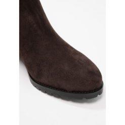 Luca Grossi Botki testa di moro. Brązowe buty zimowe damskie Luca Grossi, z materiału. W wyprzedaży za 403,60 zł.