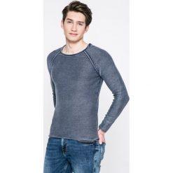 Review - Sweter. Szare swetry klasyczne męskie Review, l, z bawełny, z okrągłym kołnierzem. W wyprzedaży za 119,90 zł.