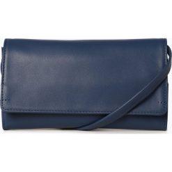 Torebki klasyczne damskie: Marc O'Polo - Damska torba na ramię ze skóry, niebieski
